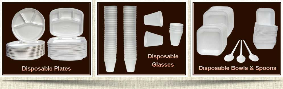 disposable materials suppliers ludhiana punjab - disposable plates - disposable glass - disposable bowl - disposable spoon - disposable products distributors punjab ludhiana india
